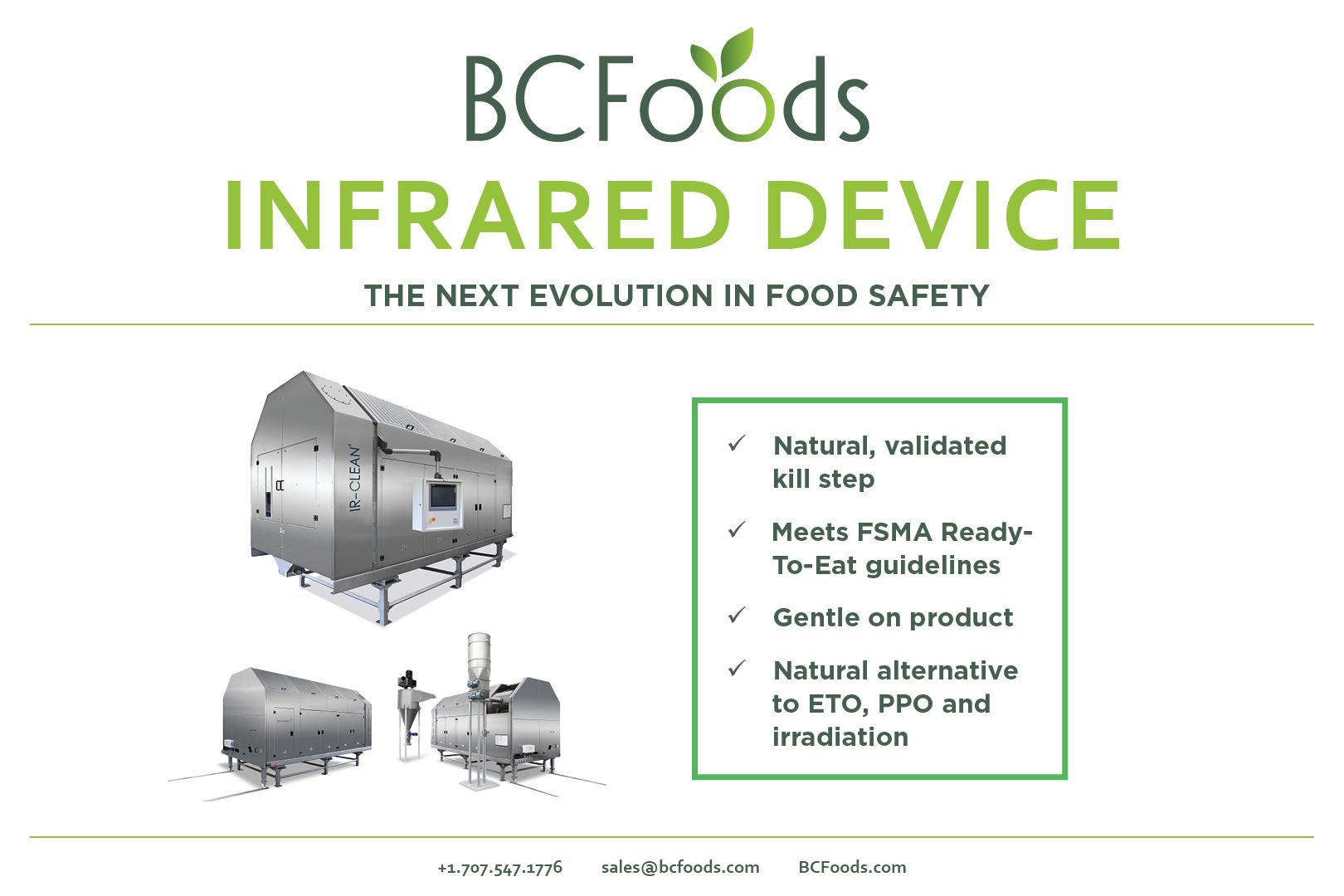 Infrared Device:  Natural Validated Kill Step, BCFoods