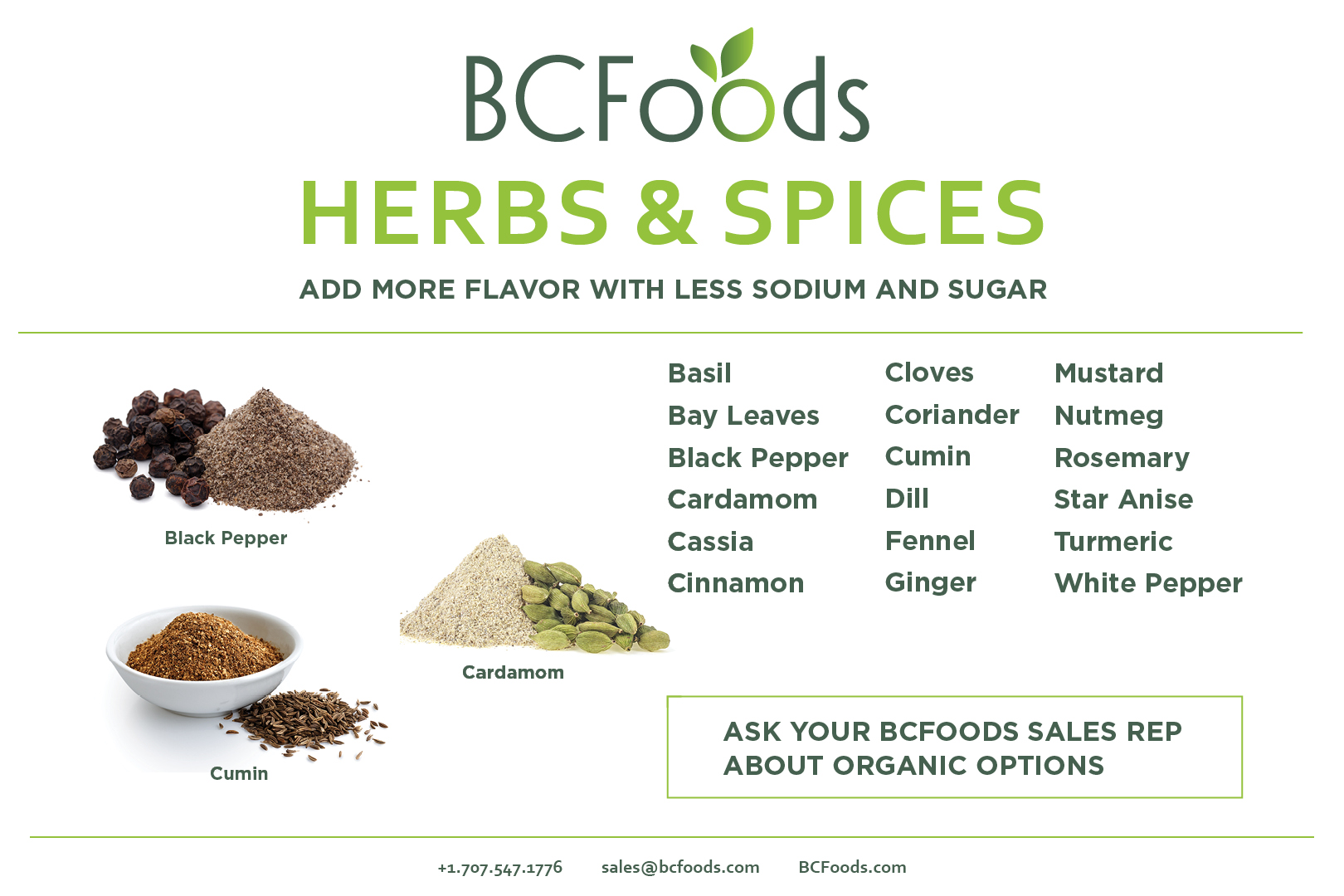 Black Pepper, Herbs, & Spices, BCFoods